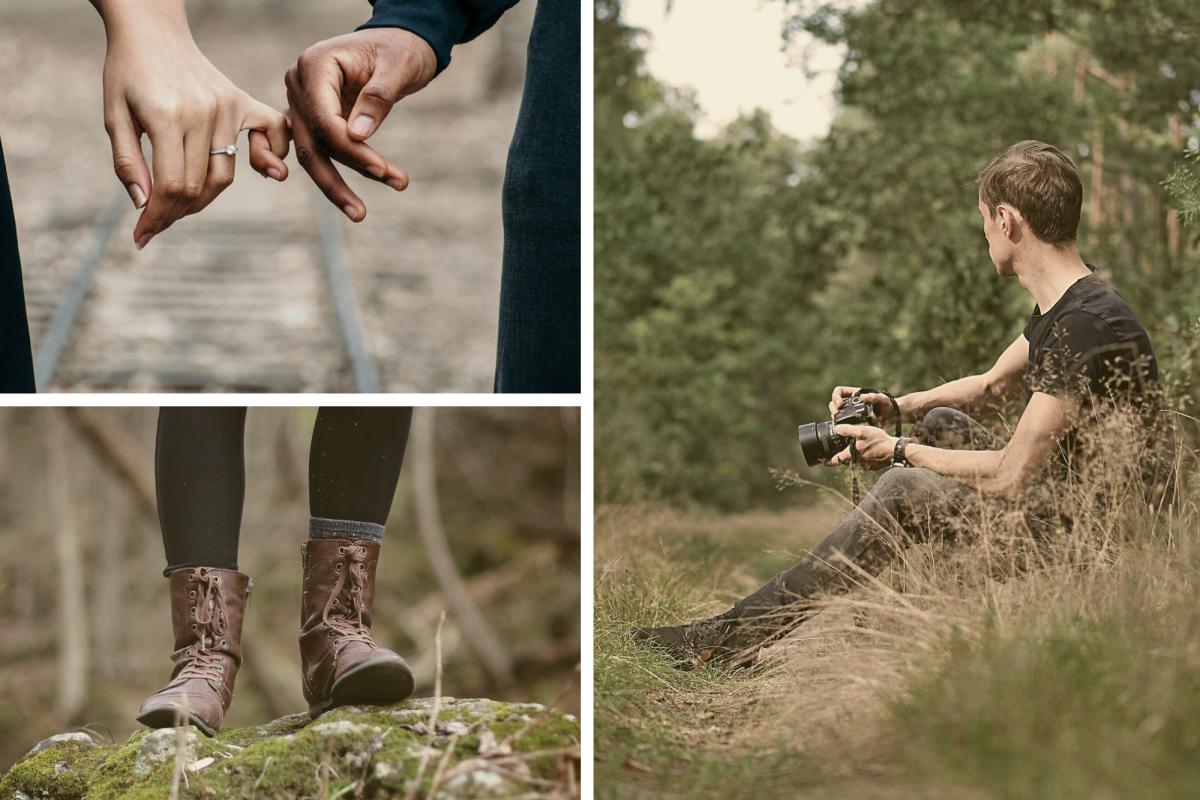 Beige Forest Fashion Photo Collage