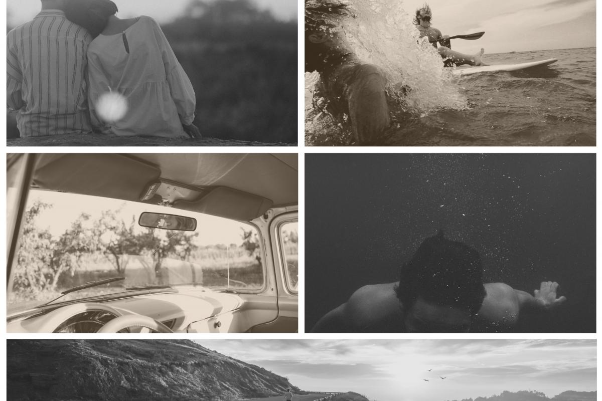 Blue Splash Family Photo Collage
